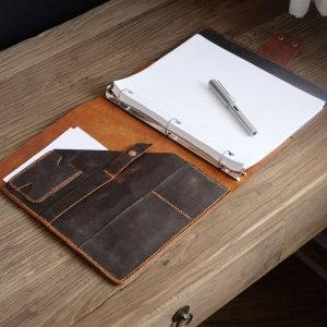 leather binder planner