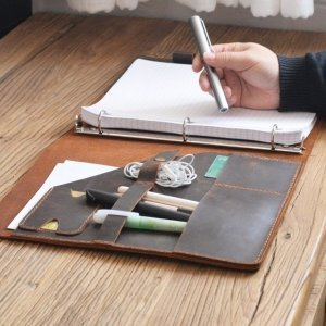 leather binder portfolio