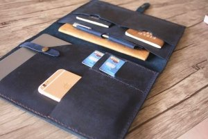 leather custom padfolio