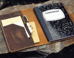 leather notebook portfolio