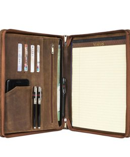 leather notepad portfolio