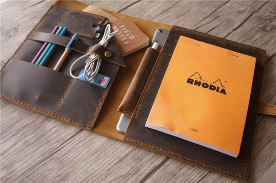leather organizer purse