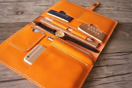 leather portfolio notebook