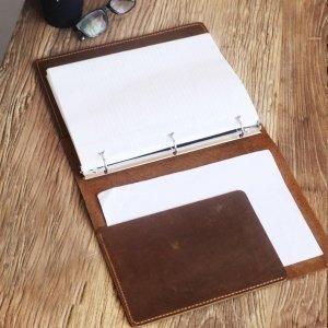 leather travel portfolio for men
