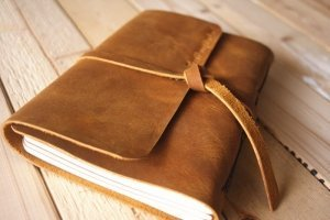 leather wedding guestbook