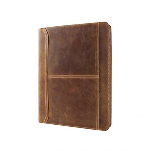 legal size leather zippered portfolio