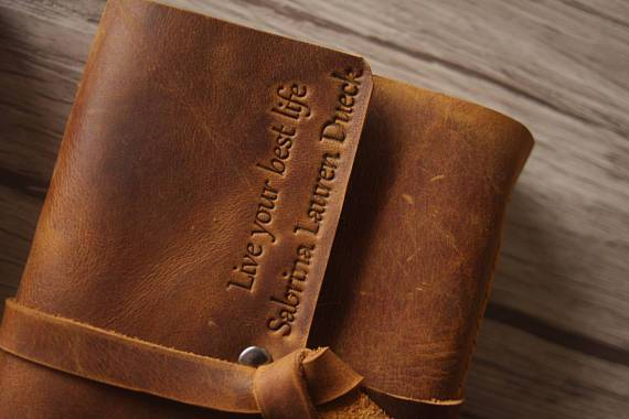 logo leather journal