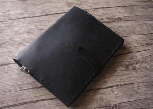 monogrammed leather folder