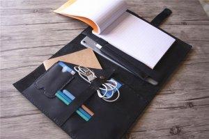 monogrammed leather padfolio