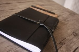 personalized leather journal cover
