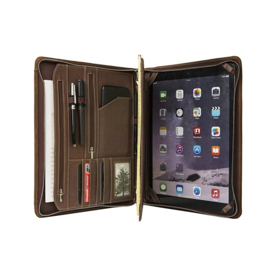 personalized leather padfolio