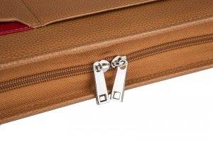 personalized leather portfolio case
