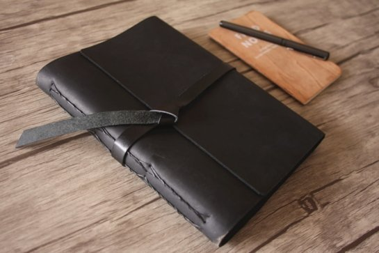 personalized writing journals leather