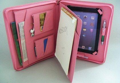 pink women's padfolio