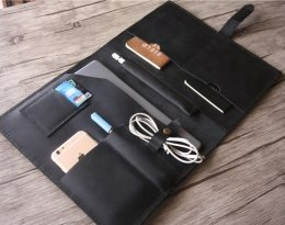 real leather portfolio