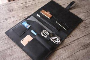 real leather portfolio