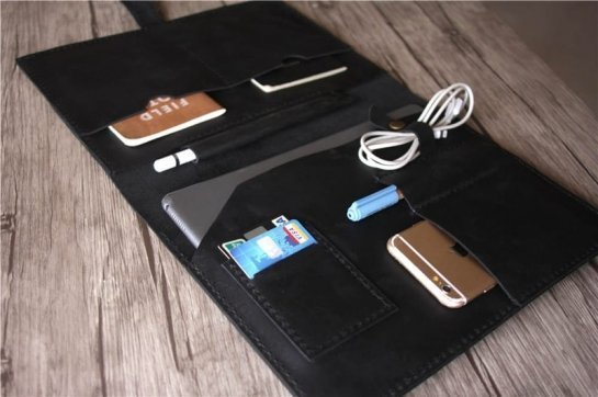 real leather portfolio case