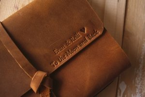 rustic leather notebooks
