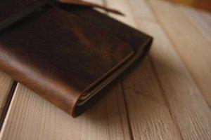 vintage leather notebook journals