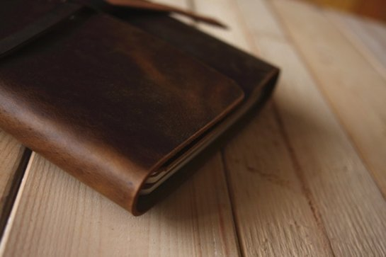 vintage leather notebook journals