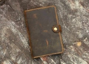 women's leather portfolio case