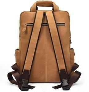 black leather book bag