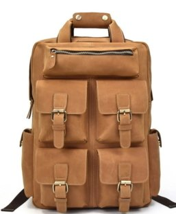leather rucksack handbag