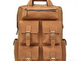 leather rucksack handbag