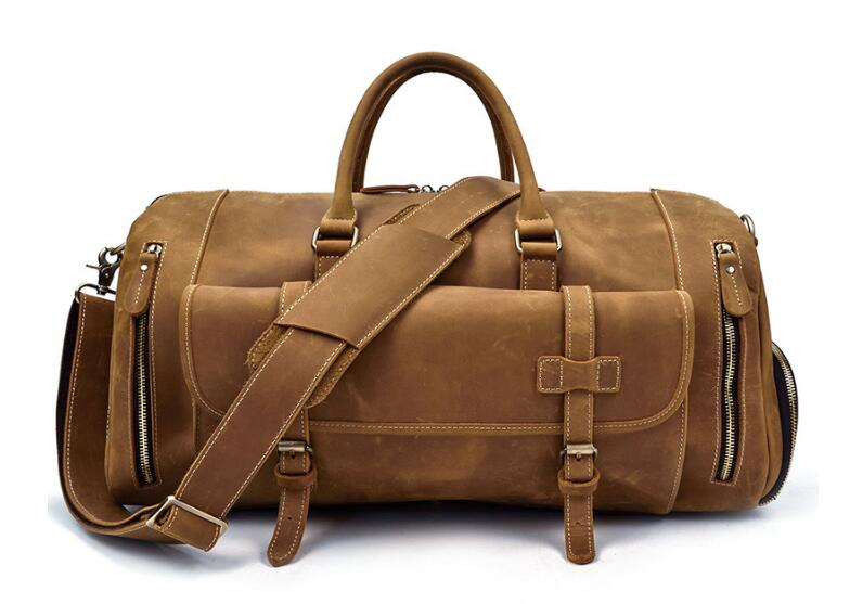 Luggage Leather Travel Weekend Bags
