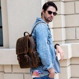 leather backpack handbags