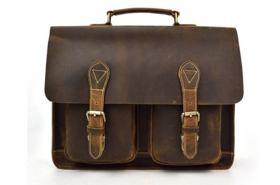 mens leather messenger bag sale