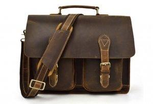 vintage mens leather work bag