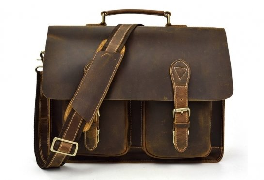 vintage mens leather work bag