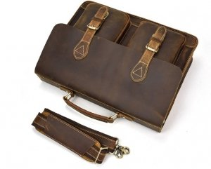 rustic mens leather messenger bag sale