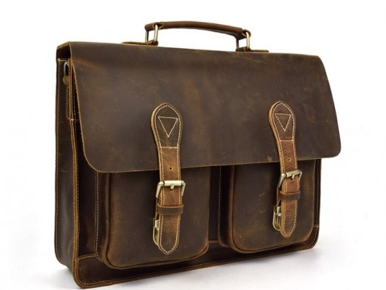 rustic mens leather work bag