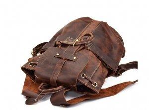 vintage leather backpack purse