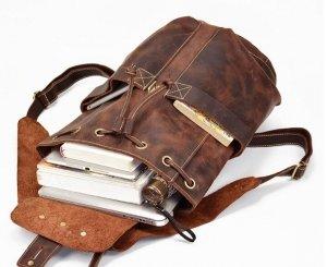 white womens black backpack