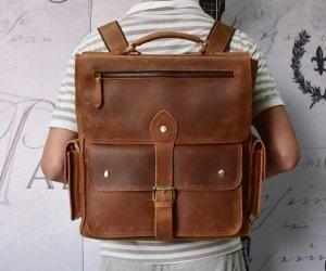 ladies leather travel backpack style handbag