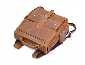 large black leather backpack