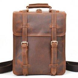 mens leather rucksack