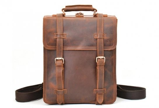 mens leather rucksack