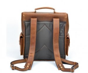 trendy leather backpack