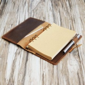 binder leather notebook