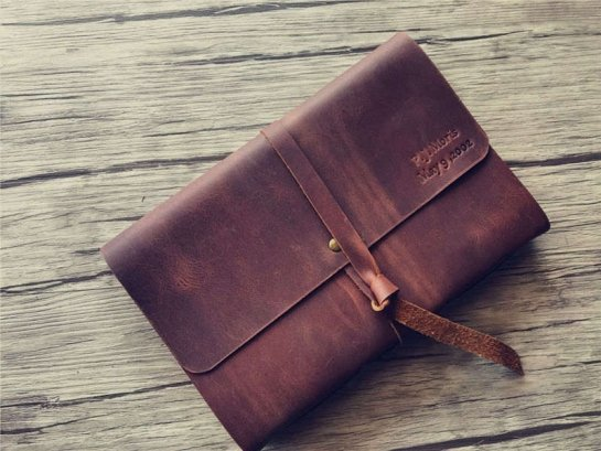 custom leather bound notebook