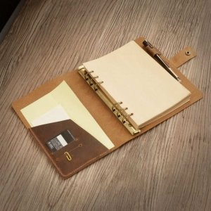 distressed leather journal