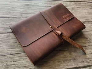 leather notebook bound