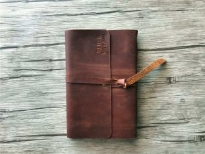 personalized large leather bound journal