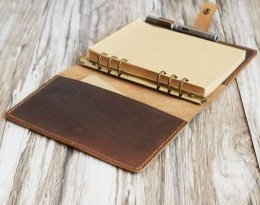 personalized refillable leather journal