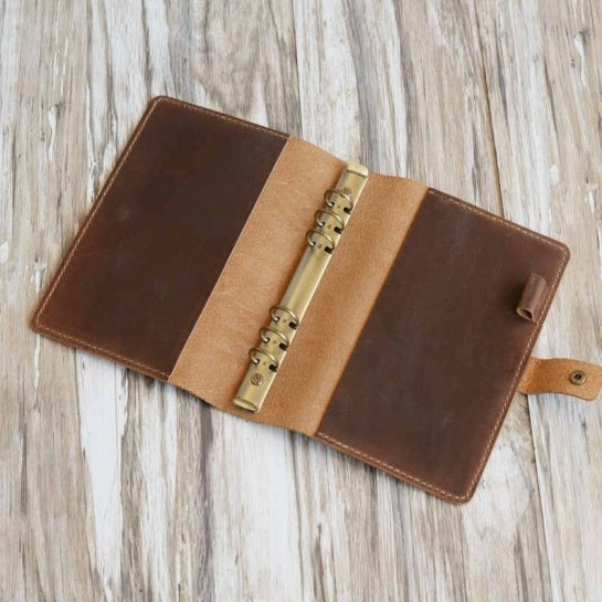 refillable leather binder journal