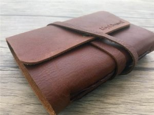 small leather bound journal